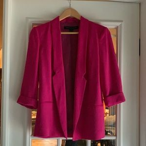 "French Connection ""Fast Connie"" Hot Pink Blazer"